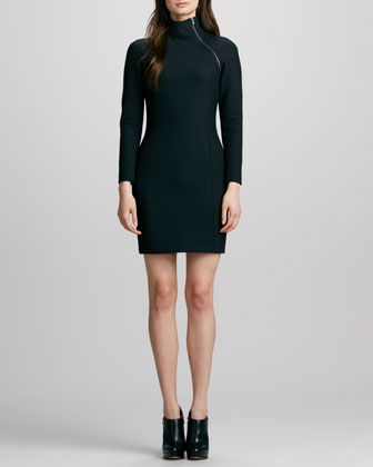 Danella Zip-Neck Dress