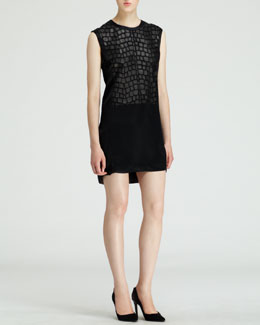 Helmut Lang Fractal Scale-Applique Dress