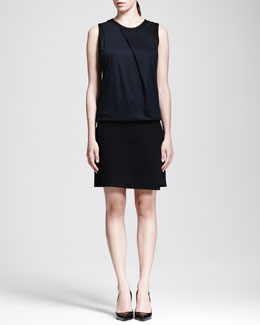 Helmut Lang Sleeveless Dropped Combo Dress