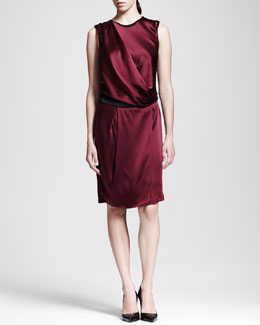 Helmut Lang Quantum Satin Drape Dress
