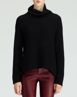 Helmut Lang Ribbed Turtleneck Fly Sweater