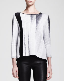 Helmut Lang Virga Jacquard Knit Sweater