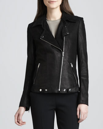 Jerfect Leather Moto Jacket