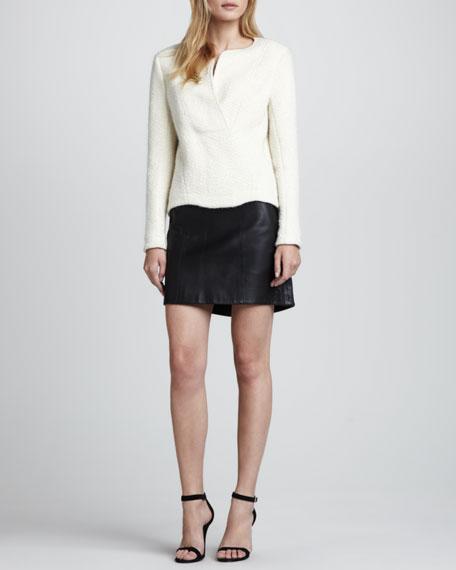 Swick A-Line Leather Skirt