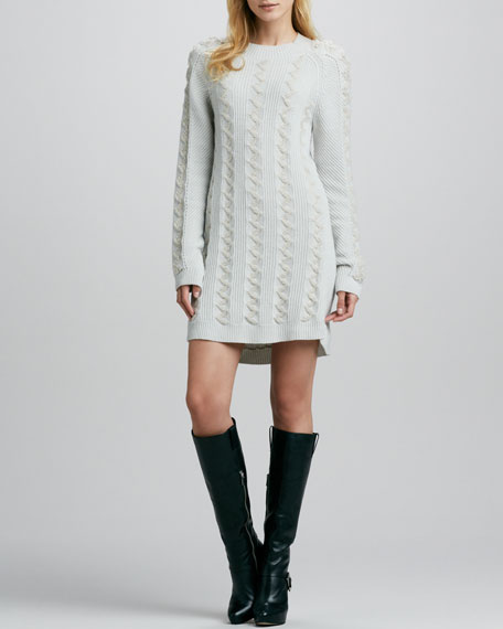 161ff1a631 Theyskens  Theory Karessa Cable-Knit Sweaterdress