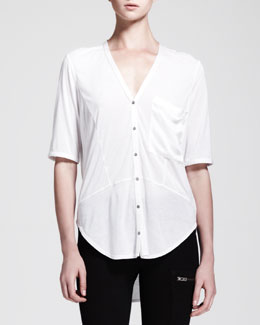HELMUT Helmut Lang Lunar Buttoned Pocket Top
