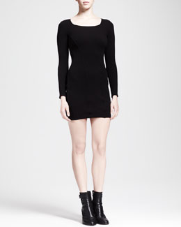 HELMUT Helmut Lang Gala Piped Cutout Knit Dress