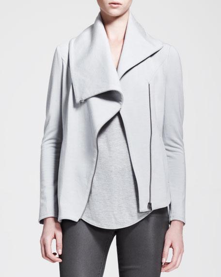 Villous Sweatshirt-Knit Zip Jacket
