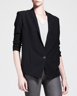HELMUT Helmut Lang Slouchy Single-Button Suiting Jacket