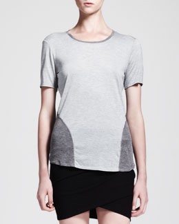 HELMUT Helmut Lang Voltage Rib-Panel Jersey Tee