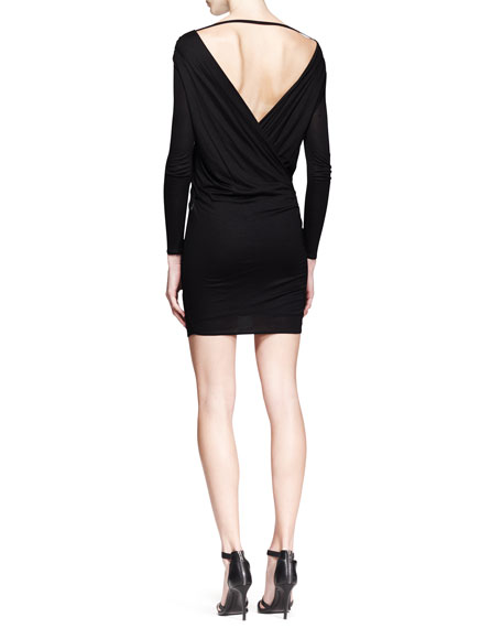 Ruched Jersey Overlap Dress