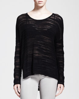 HELMUT Helmut Lang Destroyed Boucle Pullover Sweater