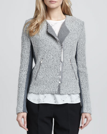 Knit/Tweed Zip Jacket