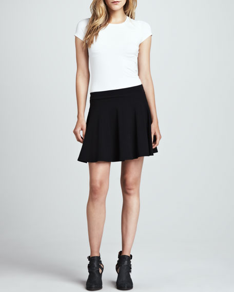 Stretch Knit Flare Skirt