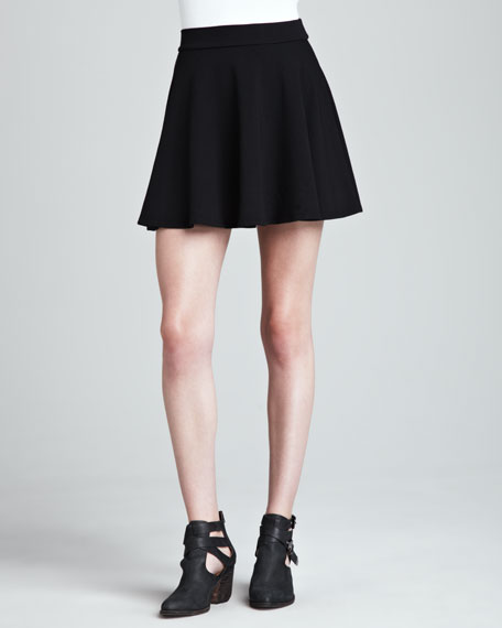 stretch-knit-flare-skirt by splendid