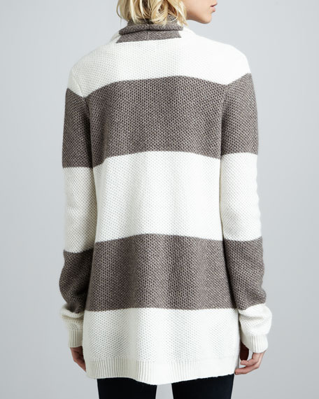 Open Striped Honeycomb Sweater