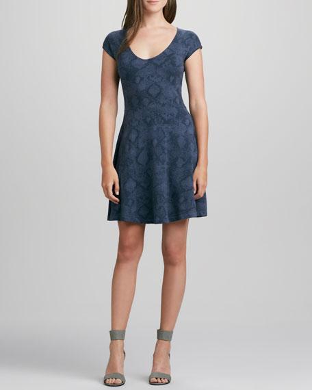Cadet Vintage Python-Print Dress