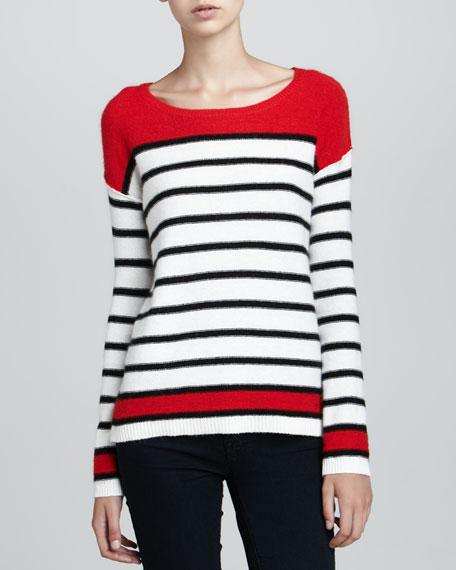 Pop Stripe Pullover Sweater