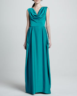 Alice + Olivia Gretchen Open Back Gown