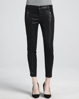 J Brand Jeans Carey Coated Moto Pants