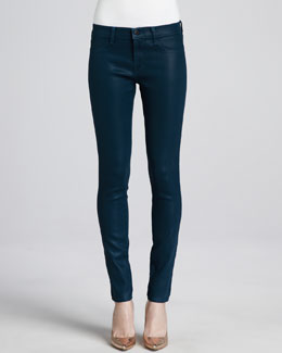 J Brand Jeans Low-Rise Coated Jeans