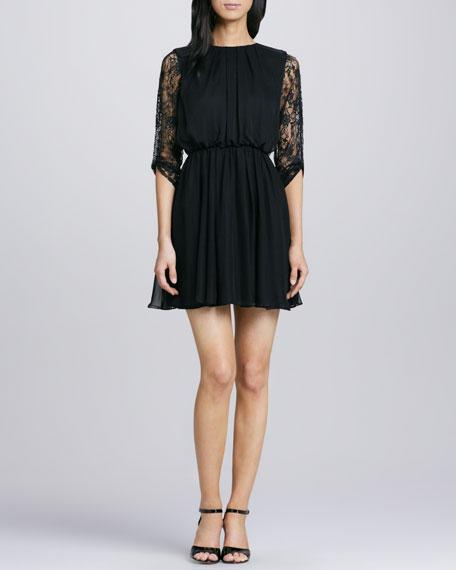 Conan Lace-Sleeve Dress