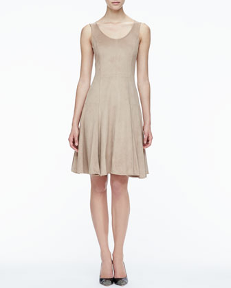 Stretch Suede A-Line Dress