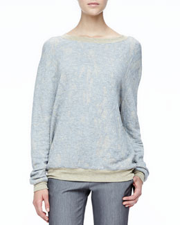 Halston Heritage Loose Slub-Knit Sweater