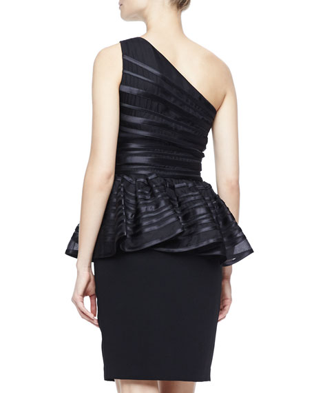 One-Shoulder Peplum Dress