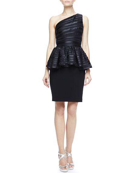 One-Shoulder Peplum Dress