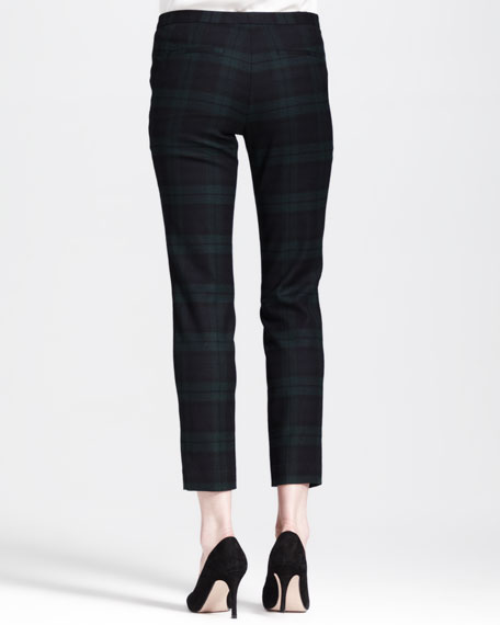 Fial Linear Cropped Plaid Pants