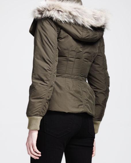 Dalili Fur-Trim Coat