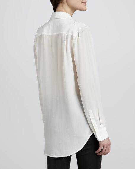 Hunter Pintucked Silk Blouse