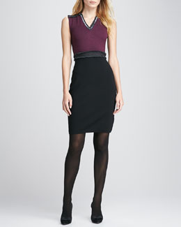 Tory Burch Avalon Two-Tone Knit Dress