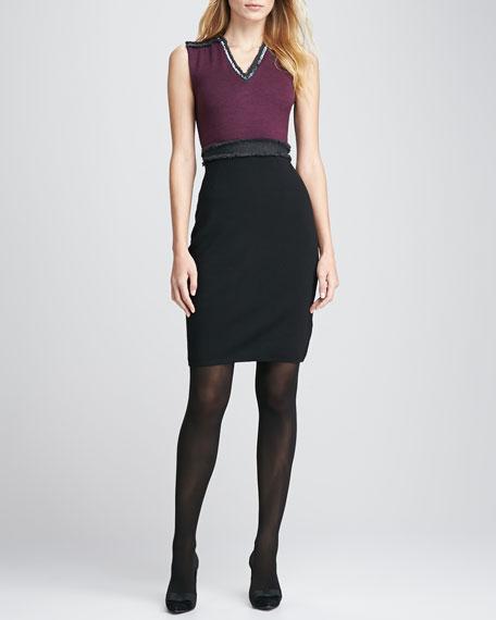Avalon Two-Tone Knit Dress