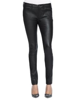 Current/Elliott Skinny Leather Ankle Pants