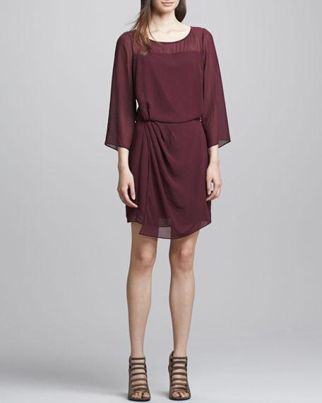 Surai Chiffon Faux-Wrap Dress