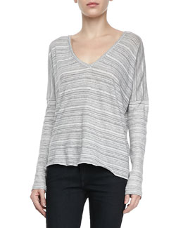 rag & bone/JEAN Nunavot Striped V-Neck Tee