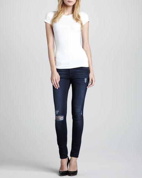 Amanda Seville Distressed Skinny Jeans