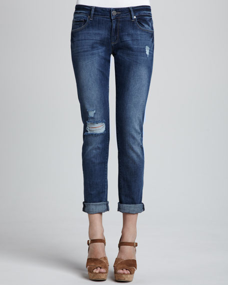 Riley Fury Distressed Boyfriend Jeans