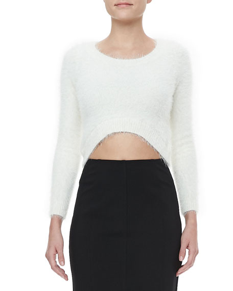 Kate Cropped Mohair Sweater