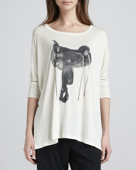 Saddle-Graphic Loose Tee