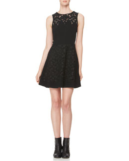 Rag & Bone Aya Lace-Panel Dress