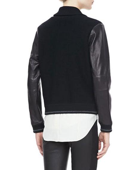 Reina Combo Varsity Jacket