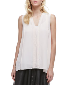 Vince Silk Sleeveless Blouse