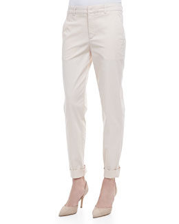 Vince Relaxed Twill Boyfriend Trousers