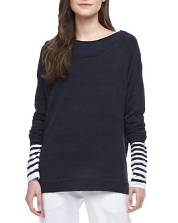 Vince Striped Intarsia Sweater