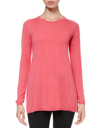 Long-Sleeve Knit Swing Top