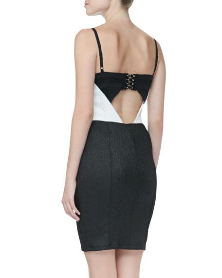 Jasmyn Two-Tone Bustier Dress