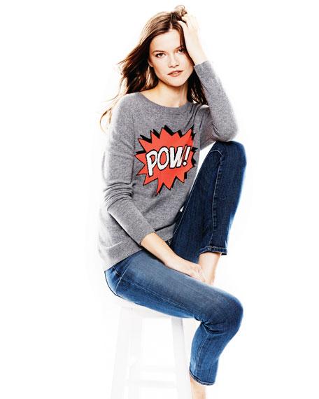 Pow! Intarsia Cashmere Sweater